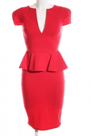 Four flavor Peplum Dress red elegant