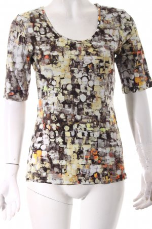 FOX'S T-Shirt Kunstmuster Casual-Look