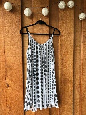 FOX Sommerkleid weiß-schwarz Größe S