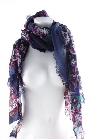 Fraas Neckerchief dark blue-violet flower pattern casual look