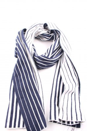 Fraas Pashmina bleu-blanc motif rayé style décontracté