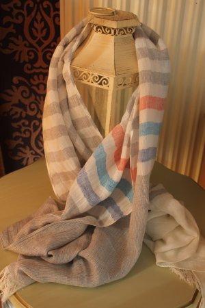Fraas Schal grau-weiß Streifen