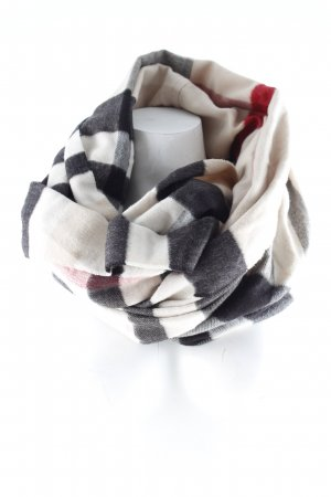 Fraas Tube Scarf check pattern casual look