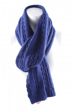 Fraas Woolen Scarf blue cable stitch casual look