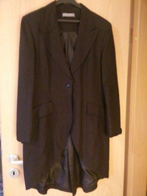 Giacca lunga nero Lino