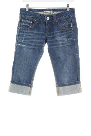 Fracomina Jeans 3/4 bleu acier-bleu style décontracté