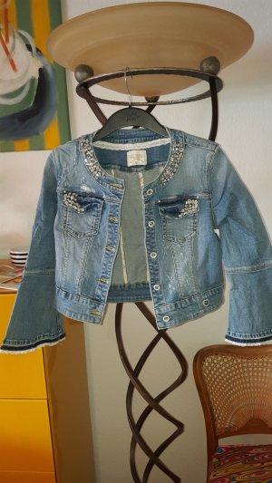 Fracomina Chanel Jacket Jeans Straß GrXS 34 (S)