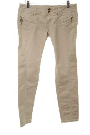 Fracomina Pantalone a vita bassa color carne-bianco sporco stile casual