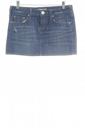 Fracomina Jupe en jeans bleu style décontracté