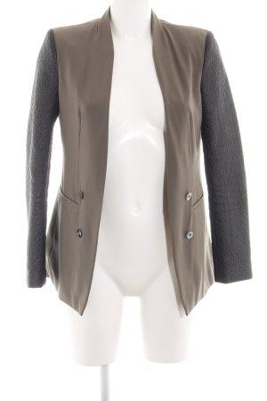 Fracomina Blazer largo marrón-gris claro estilo «business»