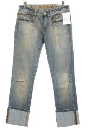 Fracomina Slim Jeans blau-goldorange Casual-Look