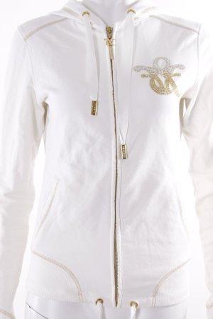 Fracomina Sweatjacke weiß-gold