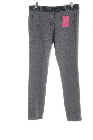 Fracomina Woolen Trousers black-oatmeal zigzag pattern business style