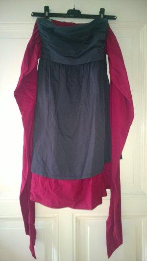 Fräulein Stachelbeere Kleid verschiedene Tragevarianten grau rot