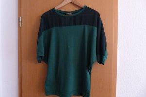 Fräulein Stachelbeere Tannengrünes Shirt mit Fledermausärmeln