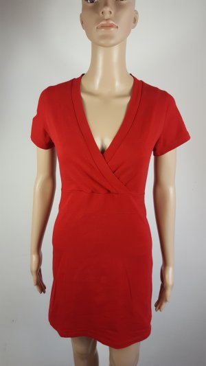 T-shirt jurk rood Katoen