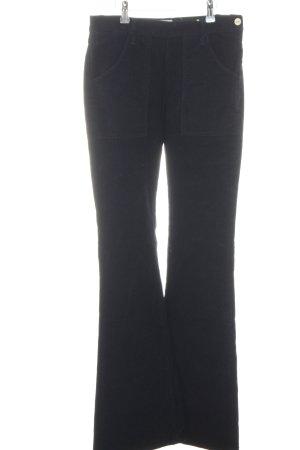 Frame Denim Pantalone di velluto a coste nero stile professionale