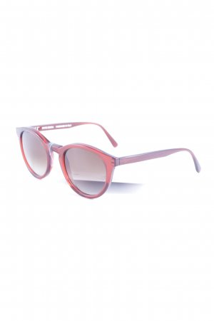 Framing Characters Retro Brille rot Casual-Look