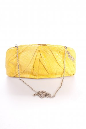 Francesco Biasia Clutch dunkelgelb Animalmuster Animal-Look