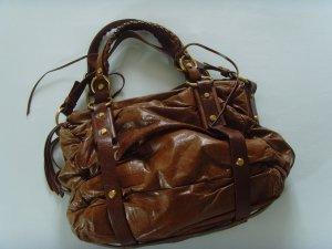 FRANCESCO BIASIA ★ cognac braun Handtasche Leder-Tasche m. Staubbeutel Original
