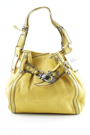 Francesco Biasia Bolso barrel amarillo oscuro look casual