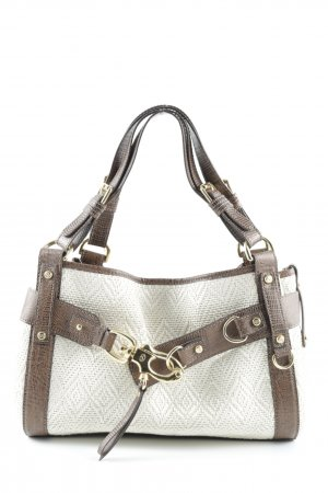 Francesco Biasia Carry Bag mixed pattern casual look
