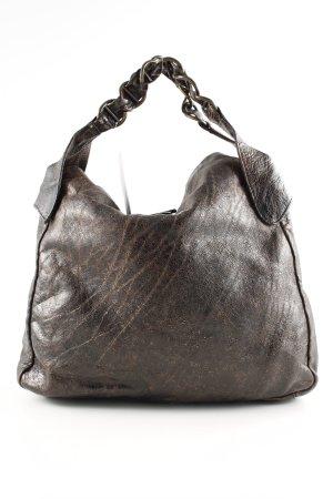 Francesco Biasia Shoulder Bag brown allover print casual look