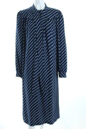 Franco Bertoli Blusenkleid dunkelblau-hellgrau Streifenmuster Casual-Look