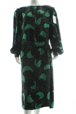 Franco Bertoli Blusenkleid Mustermix klassischer Stil