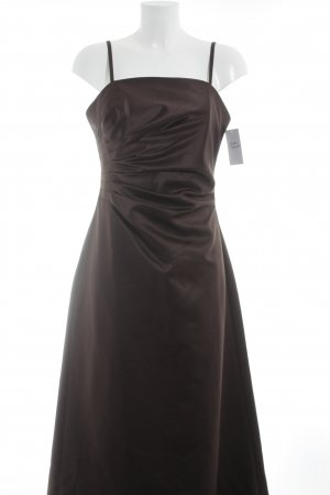Franco Callegari Robe de soirée brun foncé style mouillé