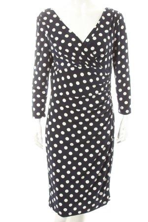 Franco Callegari Kleid dunkelblau-weiß Punktemuster Romantik-Look