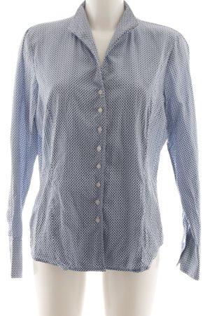 Franco Callegari Chemise à manches longues bleu-blanc imprimé allover