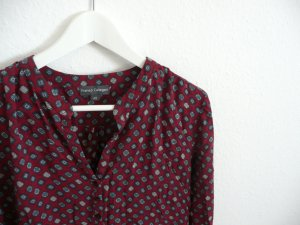 Franco Callegari P&C Bluse, rot-gemustert