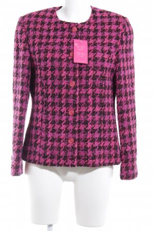 Franco Callegari Wool Blazer magenta-black check pattern business style