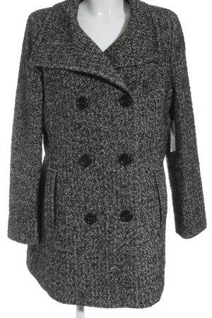 Franco Callegari Abrigo de lana negro-blanco moteado look Street-Style