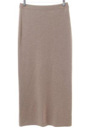 Franco Callegari Wool Skirt nude flecked simple style
