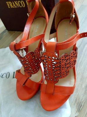 Franco Lucci italienische Schuhe Sandalen orange 39