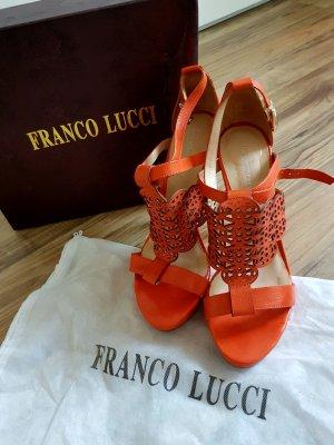 Franco Lucci italienische Silvesterschuhe Schuhe Sandalen orange 39