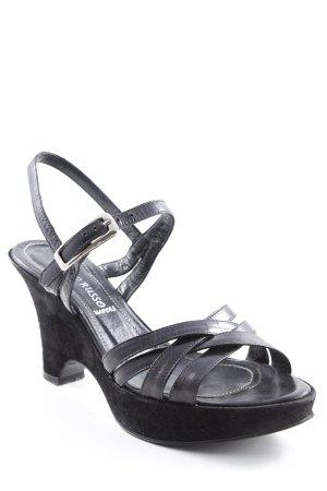 Franco Russo High Heel Sandaletten schwarz Elegant