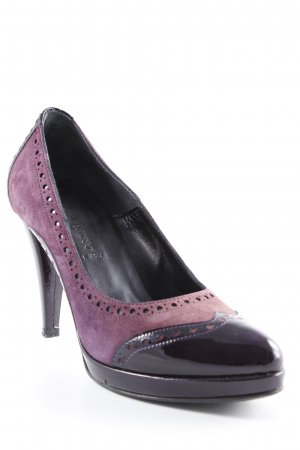 Franco Russo High Heels braunviolett-graulila Vintage-Look
