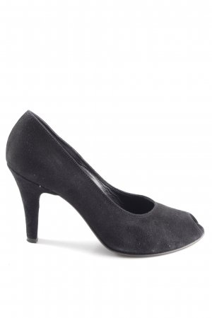Franco Russo Peeptoe Pumps schwarz Casual-Look