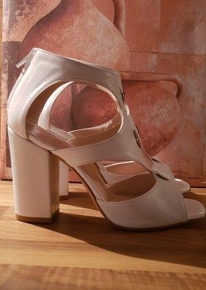 Franco Russo High Heel Sandal natural white