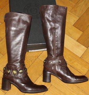 Franco Russo Stiefel braun Gr. 39 Blockabsatz sehr cool