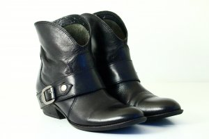 Franco Sarto Western Booties black leather