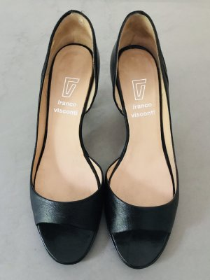 FRANCO VISCONTI Peeptoe Pumps schwarz 38