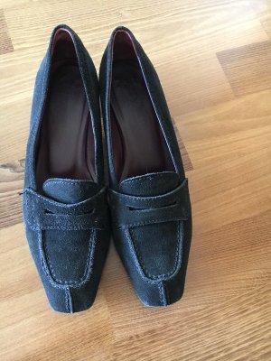 Zapatos formales sin cordones negro Gamuza