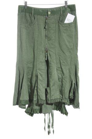 Francois Girbaud Asymmetrie-Rock grün extravaganter Stil