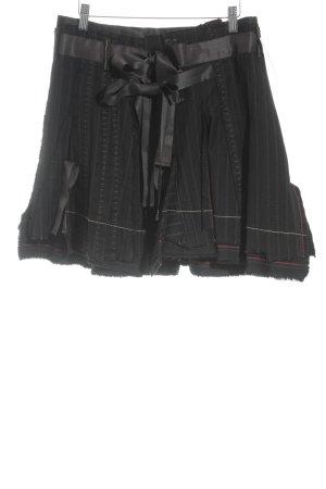 Francois Girbaud Glockenrock schwarz-braun Streifenmuster Casual-Look