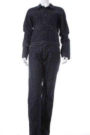 Francois Girbaud Hosenanzug dunkelblau Jeans-Optik