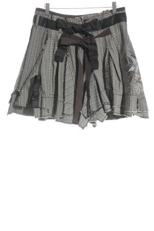 Francois Girbaud Minirock schwarz-hellbeige Fischgrätmuster extravaganter Stil